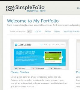 Screenshot of SimpleFolio