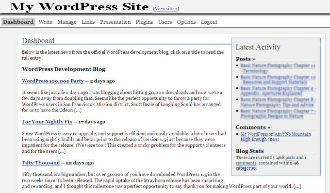 WordPress 2.0.1